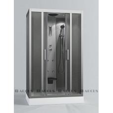 Душ. кабина АRCUS AS-119 1200*800*2150 низ.под., зад. стенки мат.сереб. ,стекла мат.,проф,сереб. 5 к