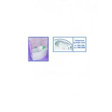 "Карниз для ванной ""Парус 2"" хром цельнометаллич. (от 0,7м х 1,2м до 1,3м х 1,8м)"