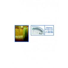 """Карниз для ванной """"Парус"""" хром цельнометаллич. (от 1,2м до 1,8м)"""