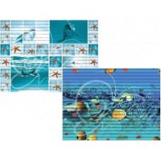 Коврик 0,65м х 15м ФОТОПРИНТ(синий)