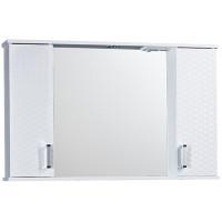 """Зеркало-шкаф """"Джульетта-100"""" 3D Плетение (белый) 1000х650х165"""