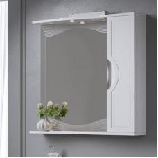 "Зеркало + шкаф ""MONACO 80"" правый, Белый (Аляванн)"