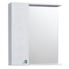 "Зеркало ""Греция 60"" 002 С белый левый 600х720х166"