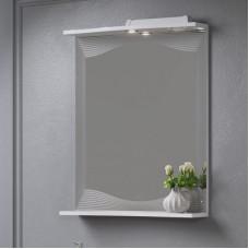 """Зеркало с полкой """"MONACO 60- 01"""" Белый (Аляванн)"""