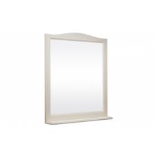 Зеркало БЕРТА 105 (в рамке с полочкой) Слоновая кость/9001 (BAS) МБ00168