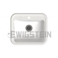Мойка EWIGSTEIN Antik 60 1 чаша 600х520 мм (иней)