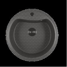 Мойкa ML-GM09 круглая, темно-серая (309), 490мм (глуб. чаши 185)
