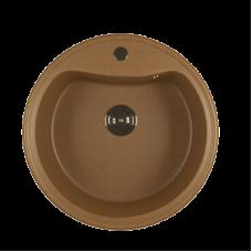 Мойкa ML-GM09 круглая, терракотовая (307), 490мм (глуб. чаши 185)
