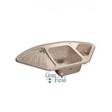 Мойка GRANFEST GF-C1040E 1,5 чаши, угловая 1040*570 мм (белый - 331)