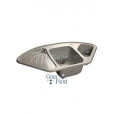 Мойка GRANFEST GF-C1040E 1,5 чаши, угловая 1040*570 мм (серый - 310)