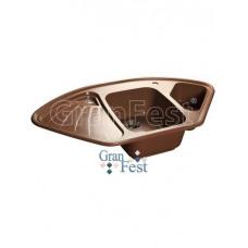 Мойка GRANFEST GF-C1040E 1,5 чаши, угловая 1040*570 мм (терракот)