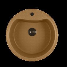 Мойкa ML-GM09 круглая, песочная (302), 490мм (глуб. чаши 185)