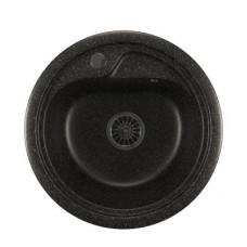 Мойкa ML-GM10 круглая, черная (308), 445мм