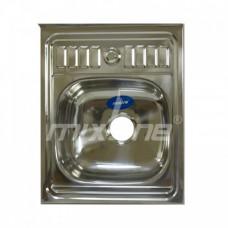 Мойка 60х50 (0,6) вып 3 1/2 MIXLINE 16см с сифоном