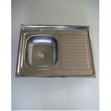 Мойка 60х80 (0,4) лев вып 1 1/2 Турция (глуб. 13см)