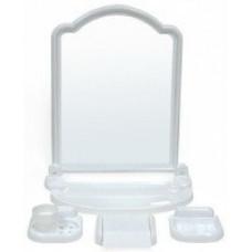 Набор для ванной комнаты с зерк АЛИСА (6 пред) белый