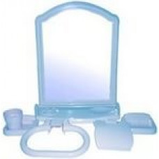 Набор для ванной комнаты с зерк АЛИСА (6 пред) голубой