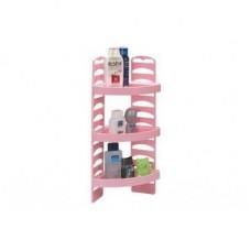 Набор для ванной комнаты угловой Элегант Плюс розовый