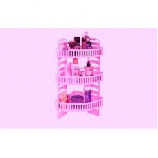 Набор для ванной комнаты угловой Премиум Плюс розовый
