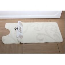 Набор ковриков для ванной Zalel 2 пр. 55х85 (кремовый)