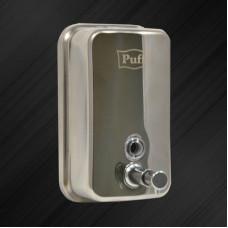 Дозатор для жидкого мыла настенный Puff-8608 0,8л, НЕРЖ. СТАЛЬ AISI 304 хром/глянец