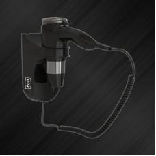 Фен для волос Puff-1600BL настенный 1,6кВт черный, 2 скорости