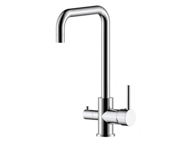 Смеситель Кухня шар d35 Г-образ излив под фильтр к питьевой воде, хром ROSSINKA Z35-29