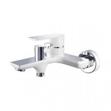 Смеситель для ванны 35к HB60505-8 HAIBA картридж перекл белый/хром