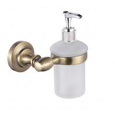 Дозатор для мыла Raiber RB52012 стекло матовое, бронза