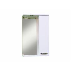 Зеркало-шкаф Sanita Квадро 50 с освещением, белый