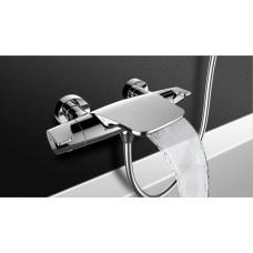 """Смеситель для ванны термостат ESKO T5054 """"Mikros"""" каскадный излив, без аксессуаров"""