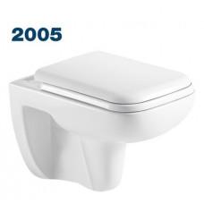 2005 Azario Pavia (квадратный) подвесной безободковый унитаз в комплекте с сидением микролифт. Размер 550*350*375 мм.