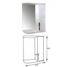 """Зеркало-шкаф """"Деко 55"""" правый (белый) 525х702х180"""