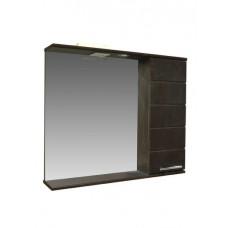 """Зеркало-шкаф """"Корро-80"""" (венге) 800х715х160"""