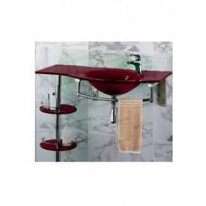 Раковина стеклянная F153-31 бордовый с блестками (1 часть)
