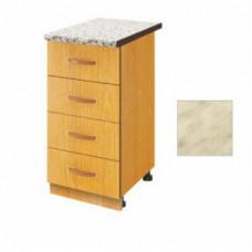 Стол разделочный 40 белый мрамор (4 ящика)