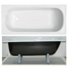 """Ванна стальная 1,5*0,7*0,4 (ВИЗ) Reimar полимерная """"Белая Орхидея"""" цв.белый"""