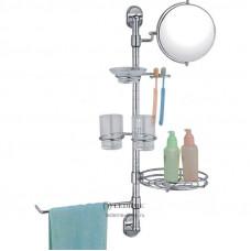1925/L Держатель-стойка для полотенца, зеркало, мыльница, стаканы (2 коробки)